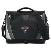 Slope Black/Grey Compu Messenger Bag-Columbus State Cougars w/ Cougar Arched
