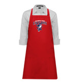 Full Length Red Apron-Columbus State Cougars w/ Cougar Arched
