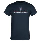 Navy T Shirt-Mens Basketball Stacked
