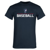 Navy T Shirt-Baseball Stacked