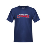 Youth Navy T Shirt-Arched Columbus State Cougars