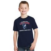 Youth Navy T Shirt-Womens Basketball