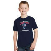 Youth Navy T Shirt-Baseball