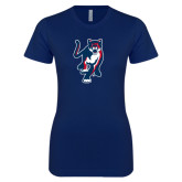 Next Level Ladies SoftStyle Junior Fitted Navy Tee-Cougar