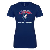Next Level Ladies SoftStyle Junior Fitted Navy Tee-Womans Soccer