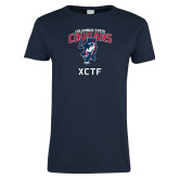 Ladies Navy T Shirt-XCTF