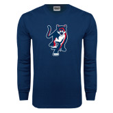 Navy Long Sleeve T Shirt-Cougar