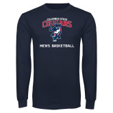 Navy Long Sleeve T Shirt-Mens Basketball