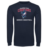 Navy Long Sleeve T Shirt-Womens Basketball