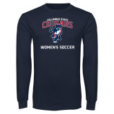 Navy Long Sleeve T Shirt-Womans Soccer