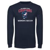 Navy Long Sleeve T Shirt-Womans Soccer