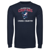 Navy Long Sleeve T Shirt-Cross Country