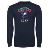 Navy Long Sleeve T Shirt-XCTF