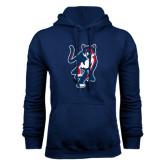 Navy Fleece Hoodie-Cougar