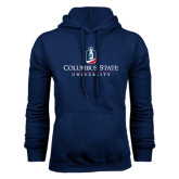 Navy Fleece Hoodie-Institutional Mark