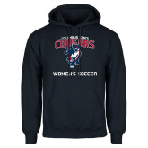 Navy Fleece Hoodie-Womans Soccer