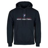 Navy Fleece Hoodie-Mens Basketball Stacked