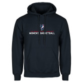 Navy Fleece Hoodie-Womens Basketball Stacked