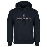 Navy Fleece Hoodie-Womens Basketball Stacked