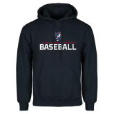 Navy Fleece Hoodie-Baseball Stacked