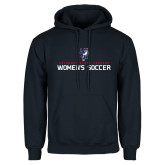 Navy Fleece Hoodie-Womens Soccer Stacked