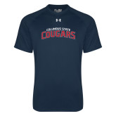 Under Armour Navy Tech Tee-Arched Columbus State Cougars