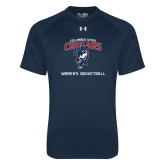 Under Armour Navy Tech Tee-Womens Basketball