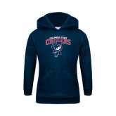 Youth Navy Fleece Hoodie-Columbus State Cougars w/ Cougar Arched