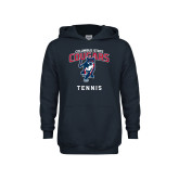 Youth Navy Fleece Hoodie-Tennis