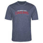 Performance Navy Heather Contender Tee-Arched Columbus State Cougars