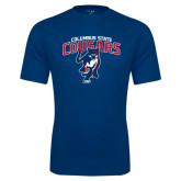 Performance Navy Tee-Columbus State Cougars w/ Cougar Arched