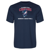 Performance Navy Tee-Womens Basketball
