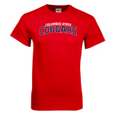 Red T Shirt-Arched Columbus State Cougars