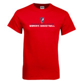 Red T Shirt-Womens Basketball Stacked