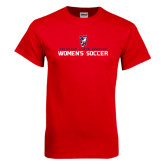Red T Shirt-Womens Soccer Stacked