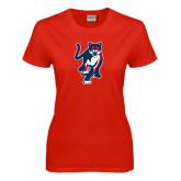 Ladies Red T Shirt-Cougar