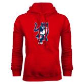 Red Fleece Hoodie-Cougar