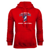 Red Fleece Hoodie-Womens Basketball