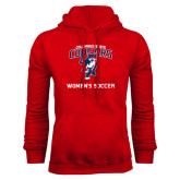 Red Fleece Hoodie-Womans Soccer