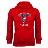 Red Fleece Hoodie-Tennis