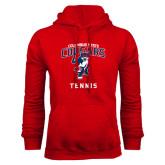 Red Fleece Hoodie-Tennis