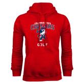 Red Fleece Hoodie-Golf