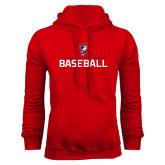 Red Fleece Hoodie-Baseball Stacked