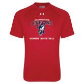 Under Armour Red Tech Tee-Womens Basketball