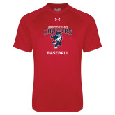 Under Armour Red Tech Tee-Baseball