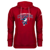 Adidas Climawarm Red Team Issue Hoodie-Columbus State Cougars w/ Cougar Arched