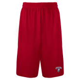 Syntrel Performance Red 9 Inch Length Shorts-Columbus State Cougars w/ Cougar Arched