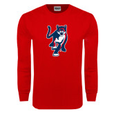 Red Long Sleeve T Shirt-Cougar