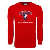 Red Long Sleeve T Shirt-Mens Basketball