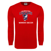Red Long Sleeve T Shirt-Womans Soccer